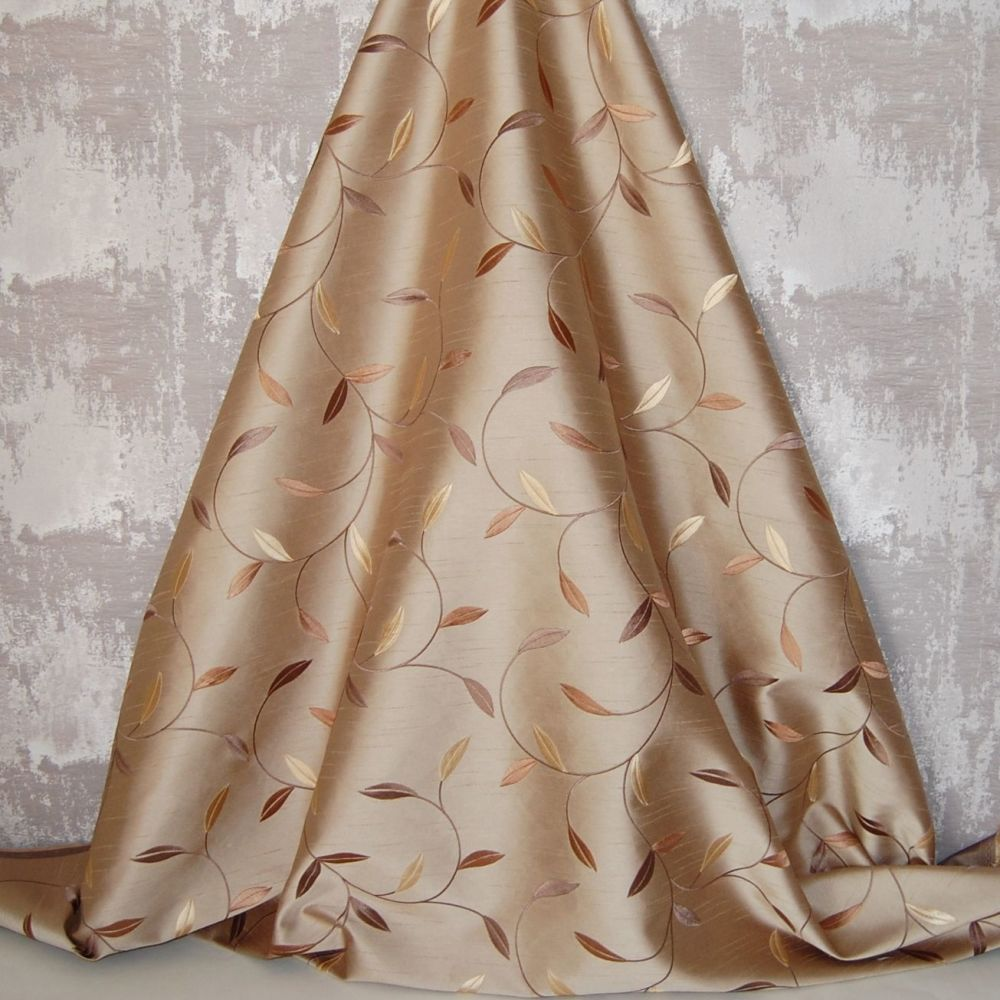 *ROLL END 1.7 METRES* EMBROIDERED FAUX SILK DESIGN 7