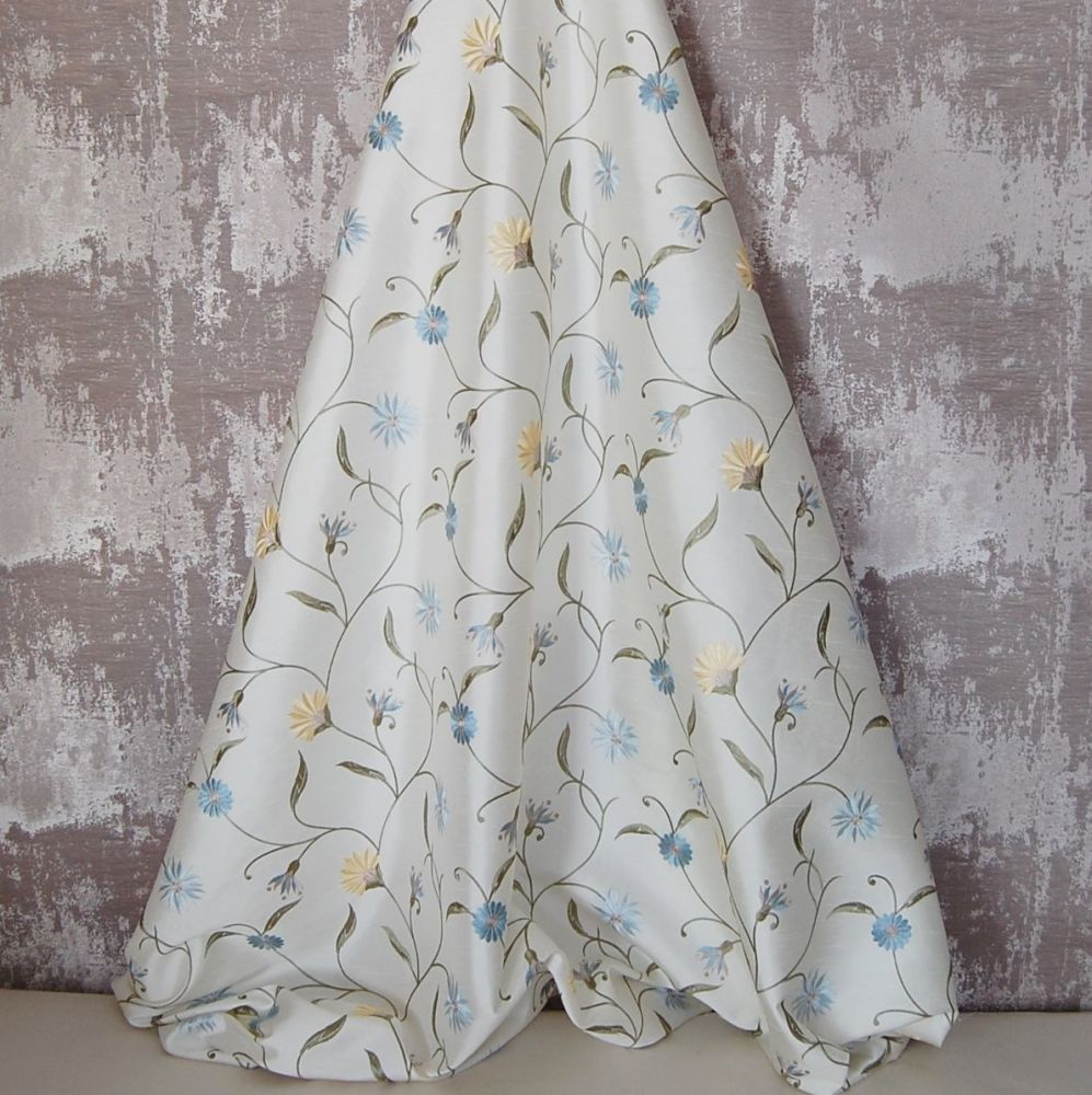 *ROLL END 1.3 METRES* EMBROIDERED FAUX SILK DESIGN 10