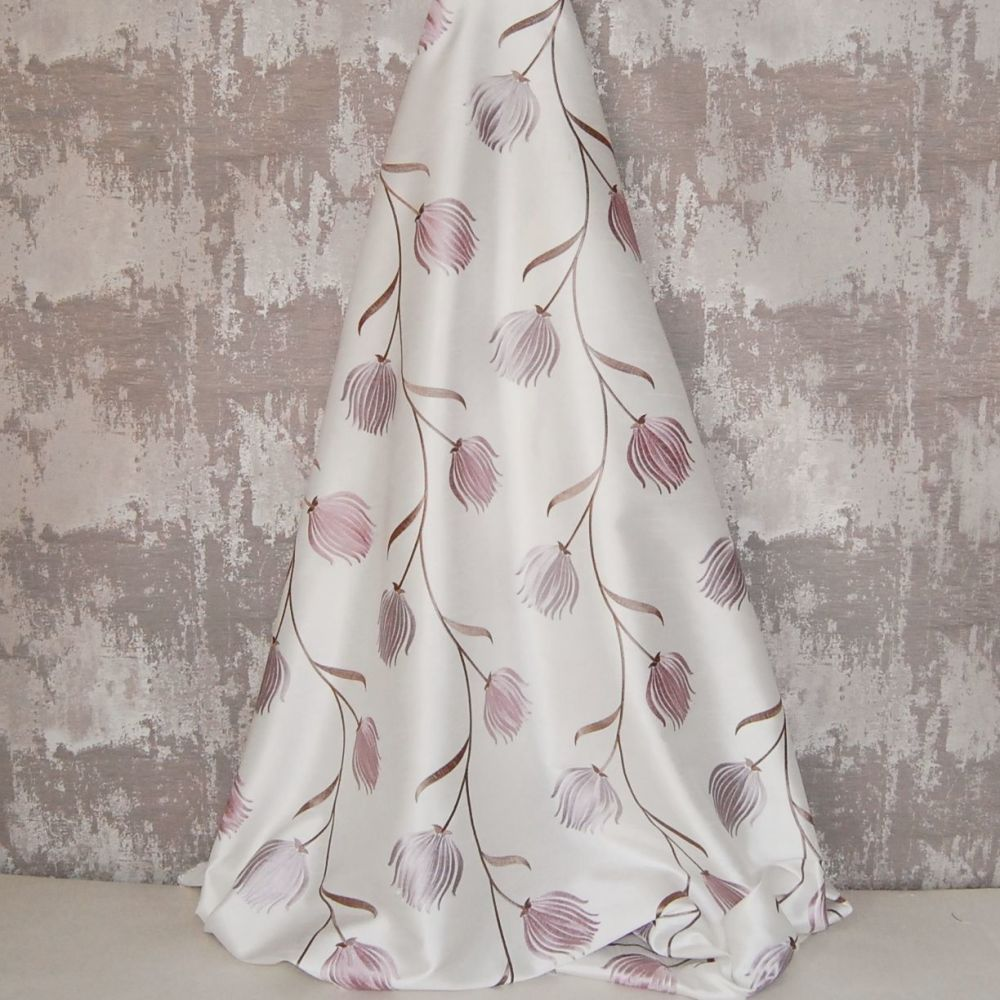 *ROLL END 1.6 METRES* EMBROIDERED FAUX SILK DESIGN 13
