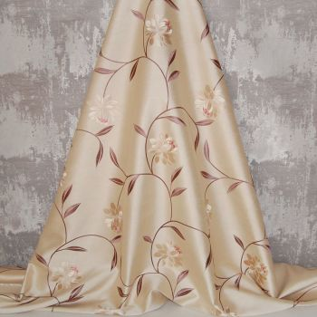 *ROLL END 1.8 METRES* EMBROIDERED FAUX SILK DESIGN 14