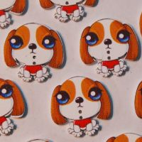 PACK OF 10 RESIN DOG BUTTON EMBELLISHMENTS - 2 HOLE.