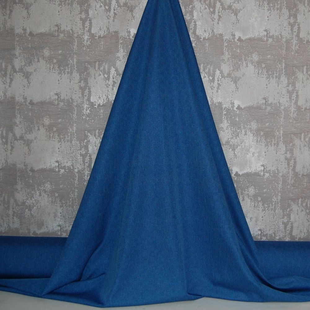 3 PASS BLACKOUT THERMAL CURTAIN FABRIC, 56 INCH WIDE (ROYAL BLUE)