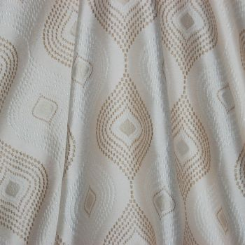 DESIGN STUDIO, ADARA IN TAUPE WOVEN CURTAIN FABRIC.