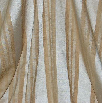 BRUSHED COTTON/LINEN WOVEN STRIPED CURTAIN/FURNISHING FABRIC. DESIGN STUDIO.