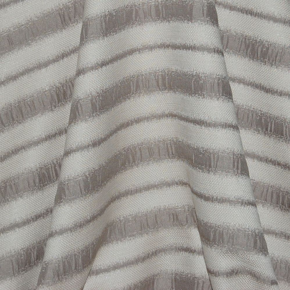 HESSIAN LOOK WOVEN STRIPED CURTAIN/FURNISHING FABRIC.