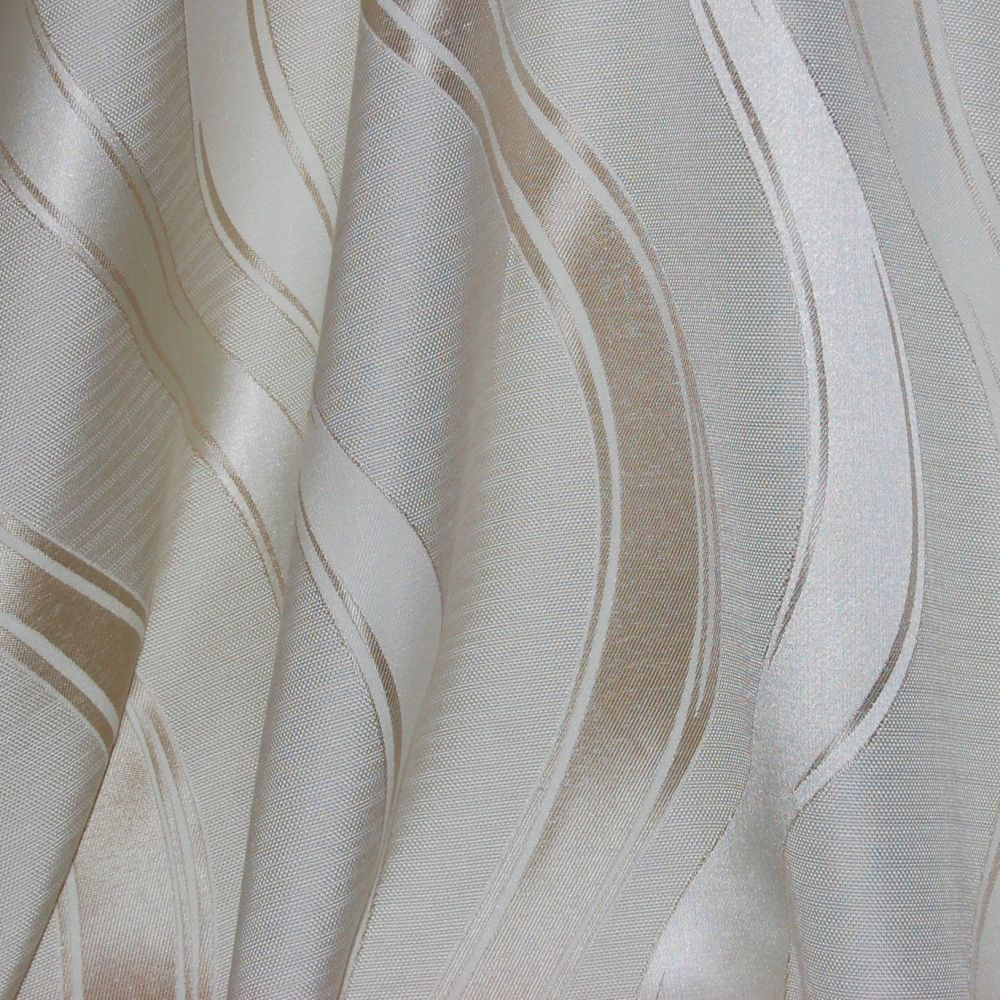WAVY STRIPED WOVEN CURTAIN FABRIC.  NEVADA BY THE DESIGN STUDIO