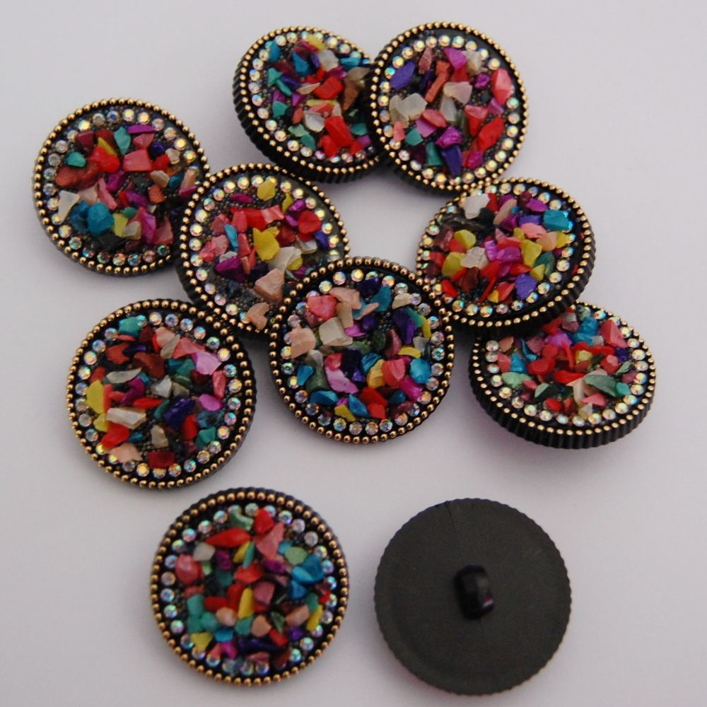 30 MM BEADED FEATURE BUTTON, SOLD INDIVIDUALLY.