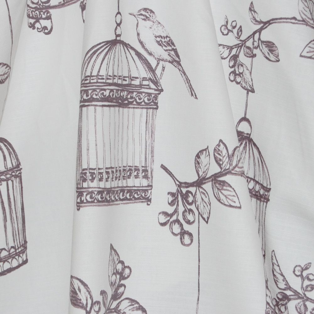 100% PANAMA COTTON BY THE DESIGN STUDIO, BIRD-SONG IN TAWNY (MAUVE).