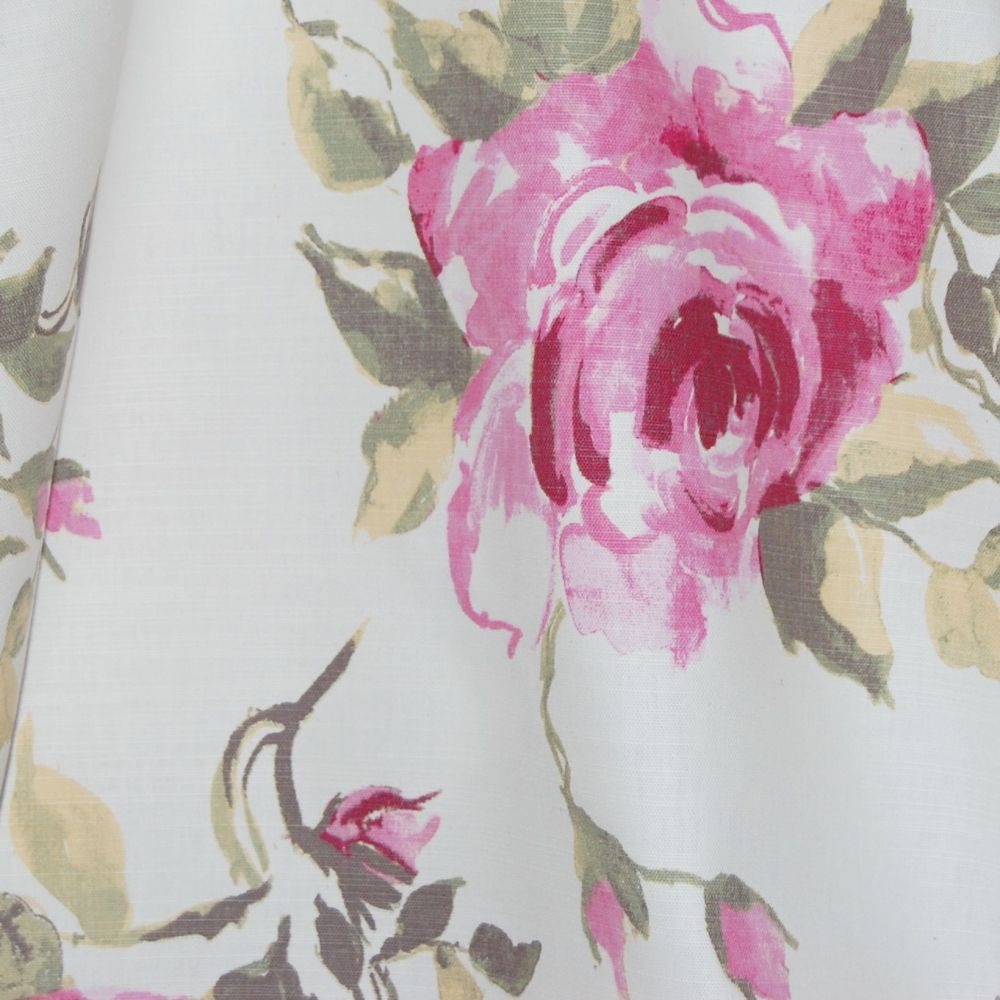 100% PANAMA COTTON BY THE DESIGN STUDIO, GARDEN ROSE IN CERISE.