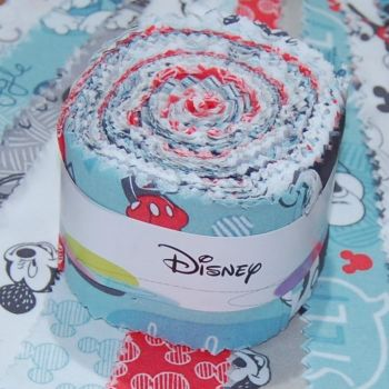 DISNEY MICKEY MOUSE FABRIC ROLL.  20 PIECES.