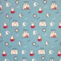 MIFFY SLEEPY BLUE 100% COTTON BY THE COTTON CRAFT CO'.