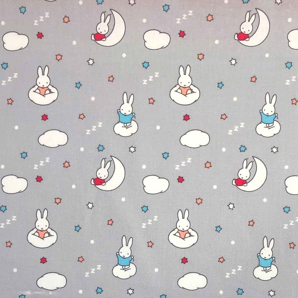 MIFFY MOON AND CLOUDS 100% COTTON BY THE COTTON CRAFT CO'.