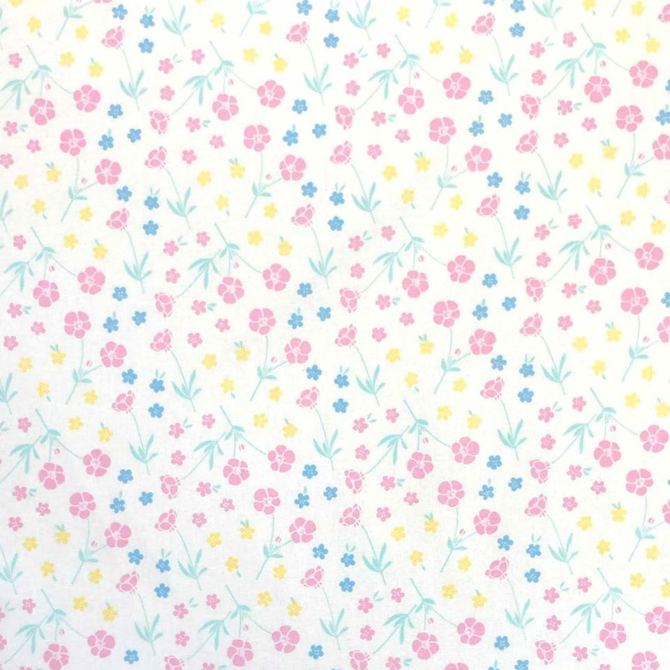MIFFY SPRING FLOWERS 100% COTTON BY THE COTTON CRAFT CO'.