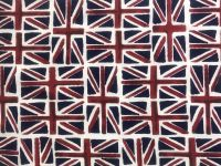UNION JACK COTTON DRESS FABRIC.