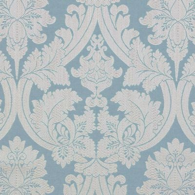 ROLL END 5.6 M'S ROXY AZURE LUXURY FURNISHING FABRIC BY THE DESIGN STUDIO