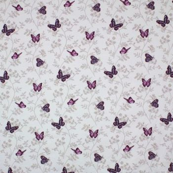100% PANAMA COTTON BY THE DESIGN STUDIO, PAPILLON IN MAUVE.