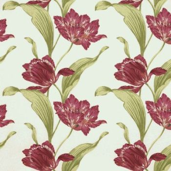 100% COTTON SATEEN BY THE DESIGN STUDIO, TULIP IN RASPBERRY