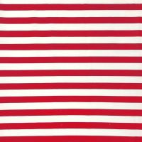 POLY COTTON RED AND WHITE STRIPE FOR DRESS MAKING ETC.