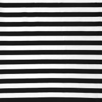 POLY COTTON BLACK AND WHITE STRIPE FOR DRESS MAKING ETC.