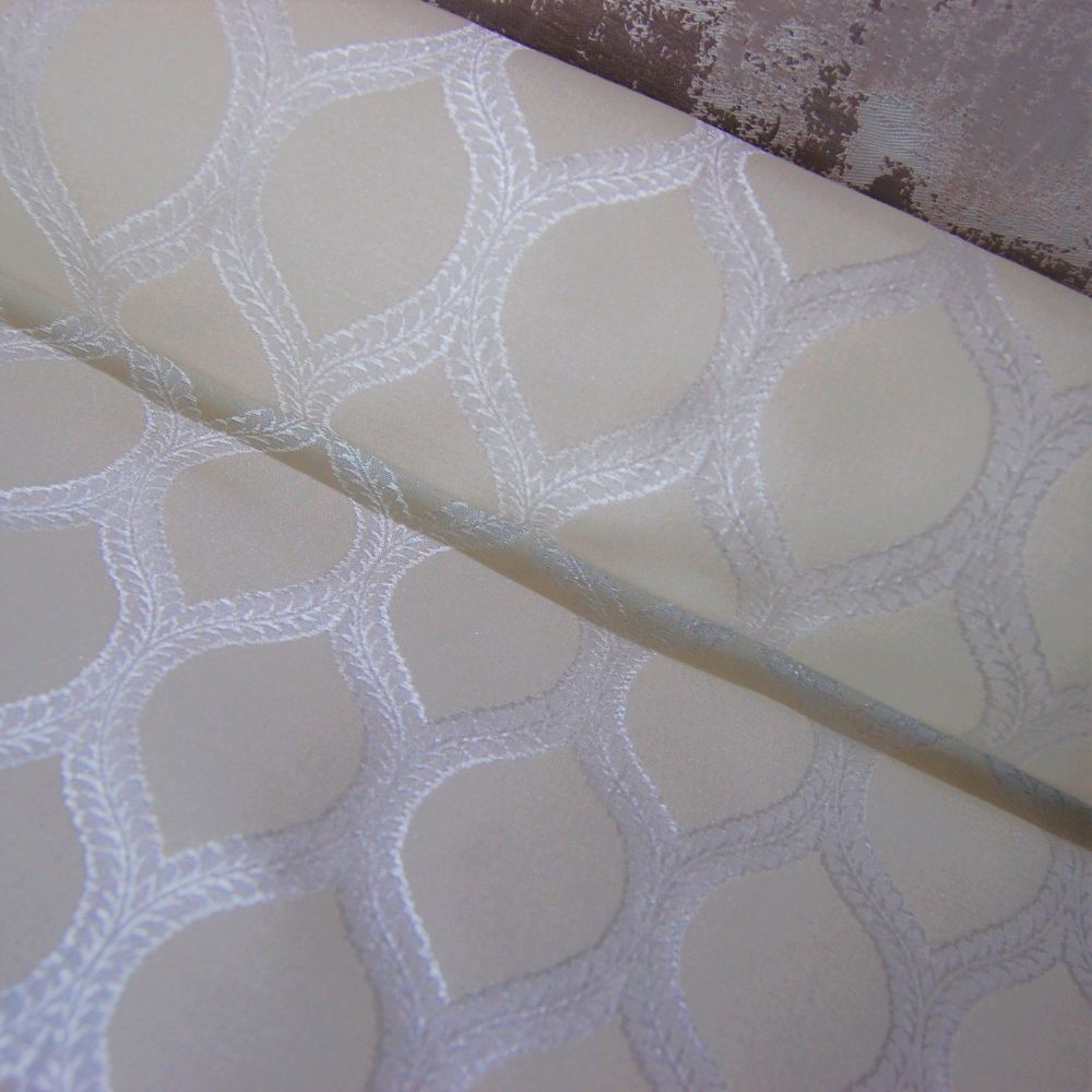 WHITE IVORY WOVEN CURTAIN FABRIC.