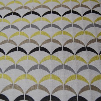 RETRO STYLE WOVEN CURTAIN FABRIC.