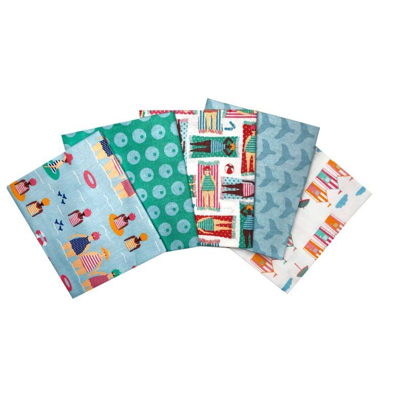 SUMMER FAT QUARTER SET, 5 PIECES. 100% COTTON.