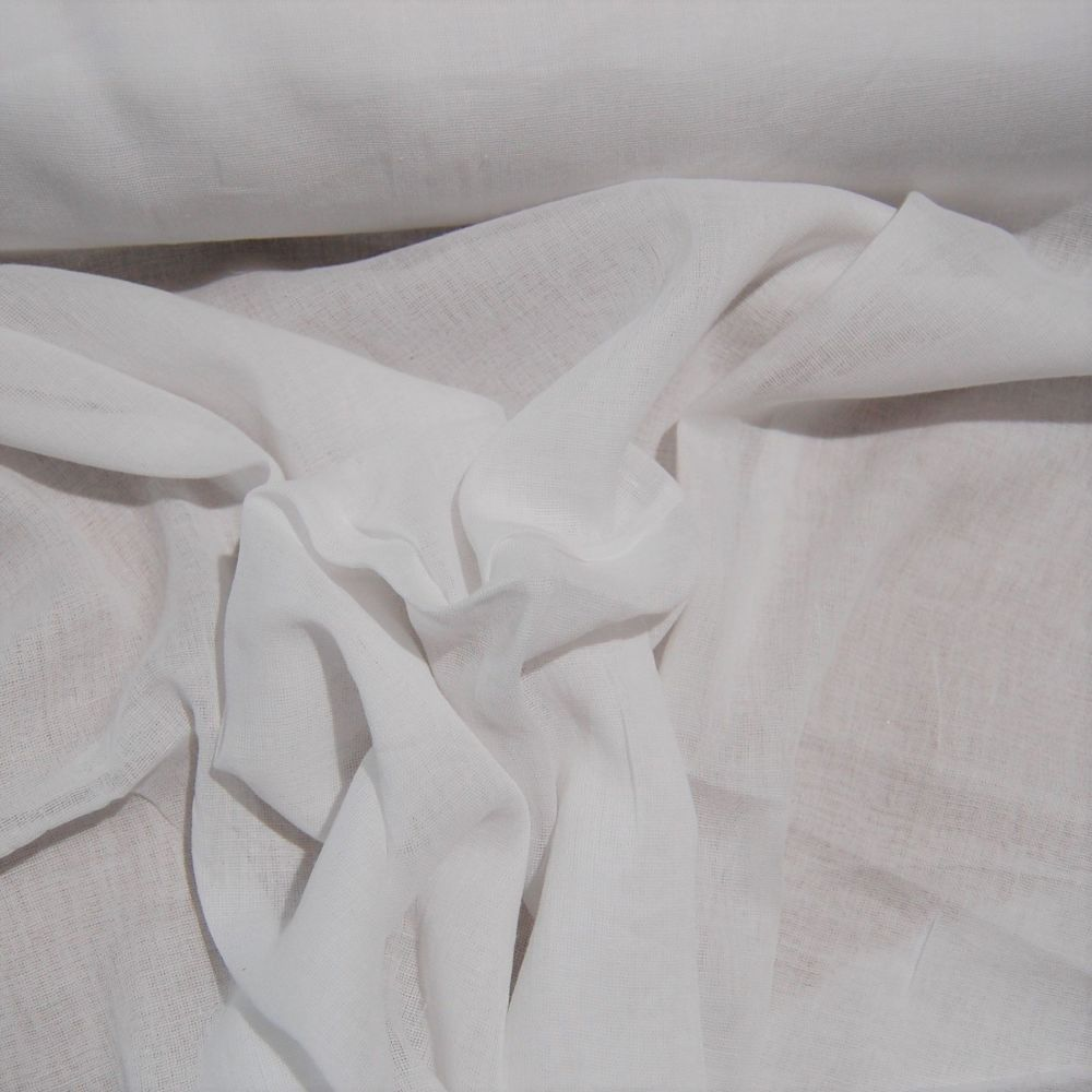 100% COTTON MUSLIN NATURAL CREAM, 60 INCH WIDE.