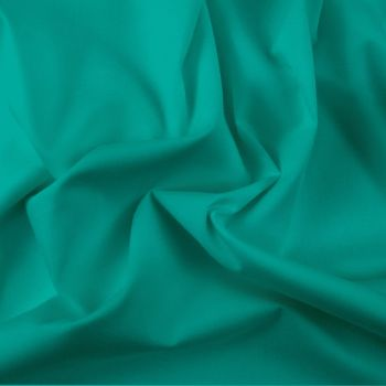 FINE PLAIN DYED POLY COTTON FOR DRESS MAKING, CRAFTS ETC, JADE.