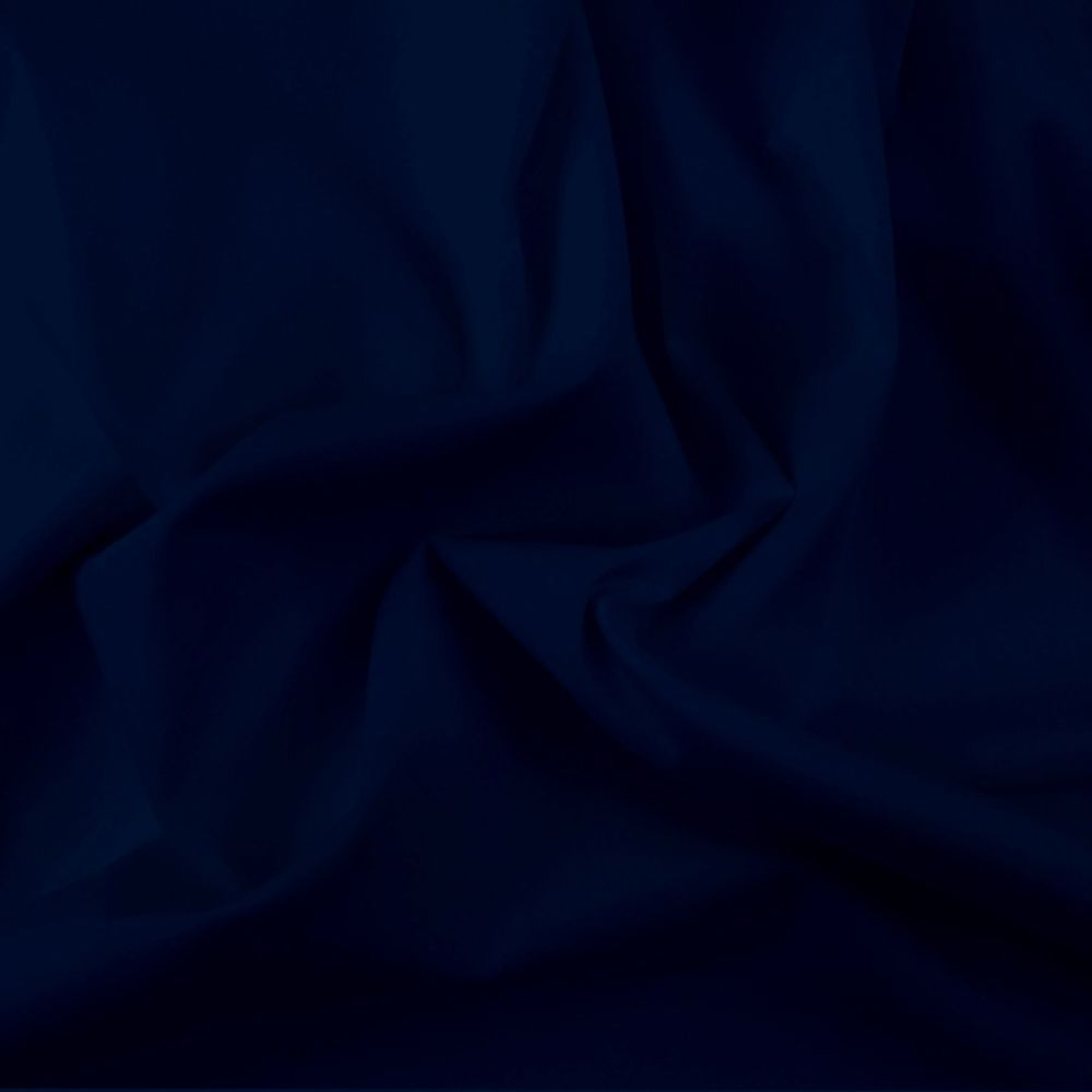 FINE PLAIN DYED POLY COTTON FOR DRESS MAKING, CRAFTS ETC, DARK NAVY.