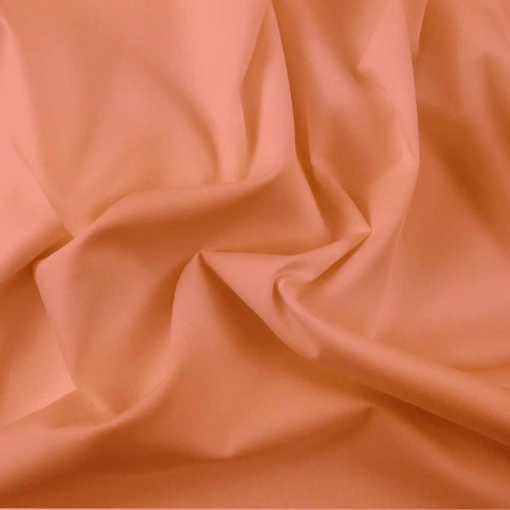 FINE PLAIN DYED POLY COTTON FOR DRESS MAKING, CRAFTS ETC, AMBER.