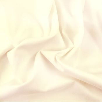 FINE PLAIN DYED POLY COTTON FOR DRESS MAKING, CRAFTS ETC, IVORY.