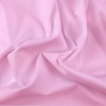 FINE PLAIN DYED POLY COTTON FOR DRESS MAKING, CRAFTS ETC, PALE PINK.