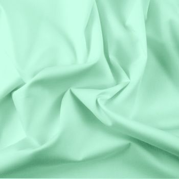 FINE PLAIN DYED POLY COTTON FOR DRESS MAKING, CRAFTS ETC, MINT.