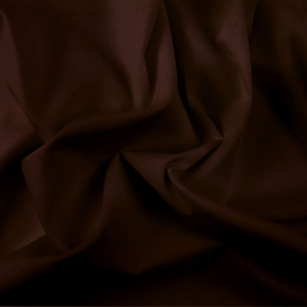 FINE PLAIN DYED POLY COTTON FOR DRESS MAKING, CRAFTS ETC, CHOCOLATE.
