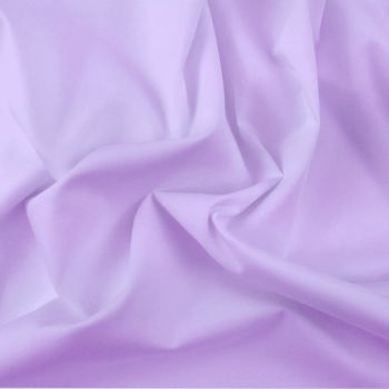 FINE PLAIN DYED POLY COTTON FOR DRESS MAKING, CRAFTS ETC, LILAC.