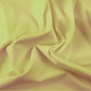 FINE PLAIN DYED POLY COTTON FOR DRESS MAKING, CRAFTS ETC, GOLD.