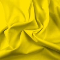FINE PLAIN DYED POLY COTTON FOR DRESS MAKING, CRAFTS ETC, CITRON.