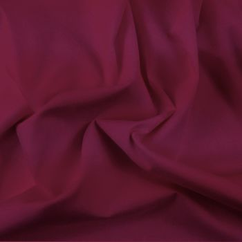 FINE PLAIN DYED POLY COTTON FOR DRESS MAKING, CRAFTS ETC, WINE.