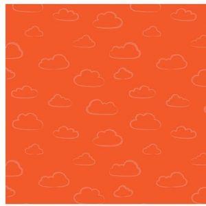 100% COTTON BY STUART HILLARD, RAINBOW ETCHINGS IN ORANGE.