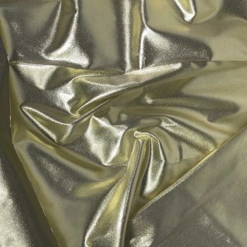 METALLIC SHEER IN GOLD FOR DANCE WEAR, COSTUMES, DRAPING ETC.