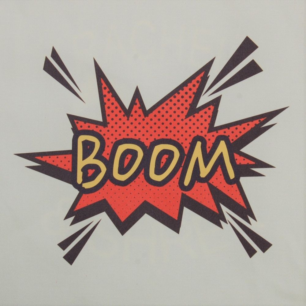8 INCH COTTON SQUARE, POP ART BOOM (OPTION A).