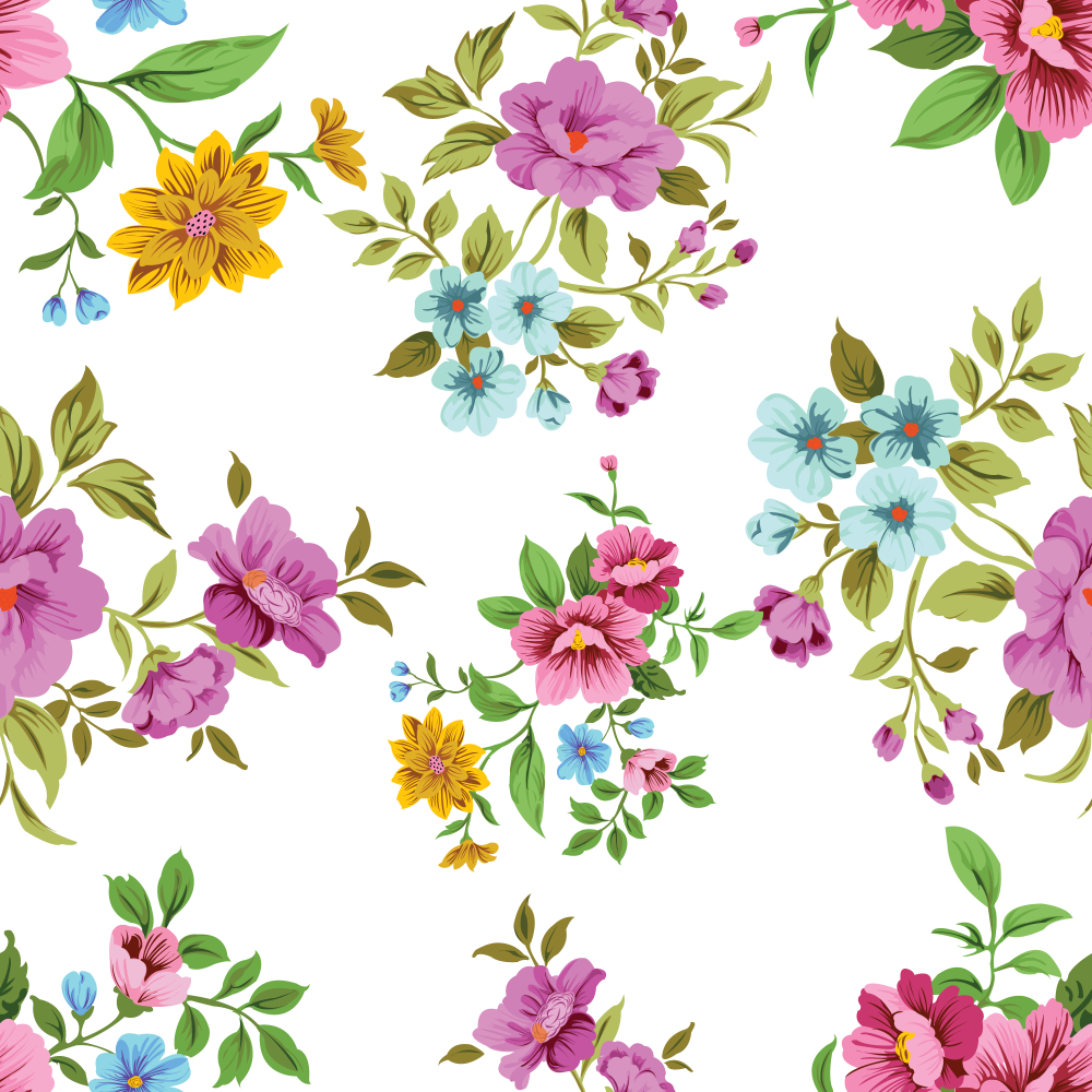 8 INCH COTTON SQUARE,  PINK AND YELLOW FLORAL