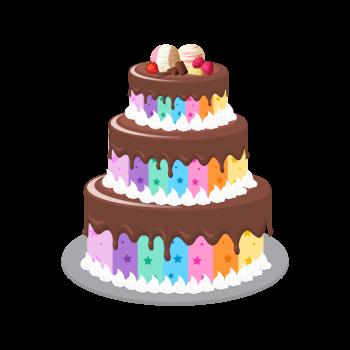 8 INCH FELT SQUARE,  CHOC CAKE (OPTION B)