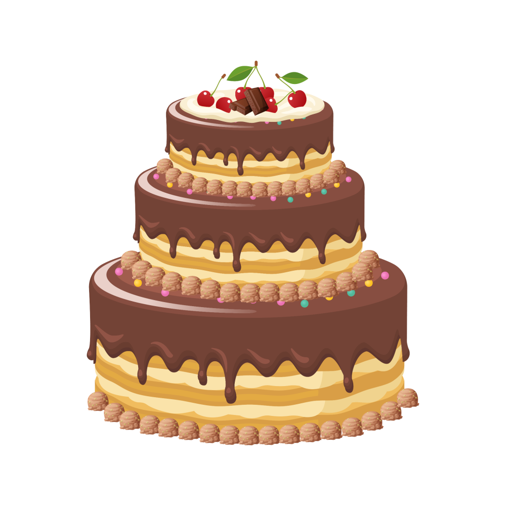 8 INCH COTTON SQUARE,  CHOC CAKE (OPTION C)