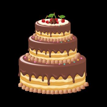 8 INCH FELT SQUARE,  CHOC CAKE (OPTION C)