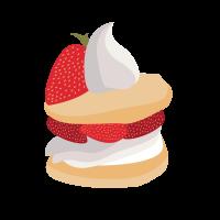 8 INCH FELT SQUARE,  SLICE OF CAKE (OPTION C) 95