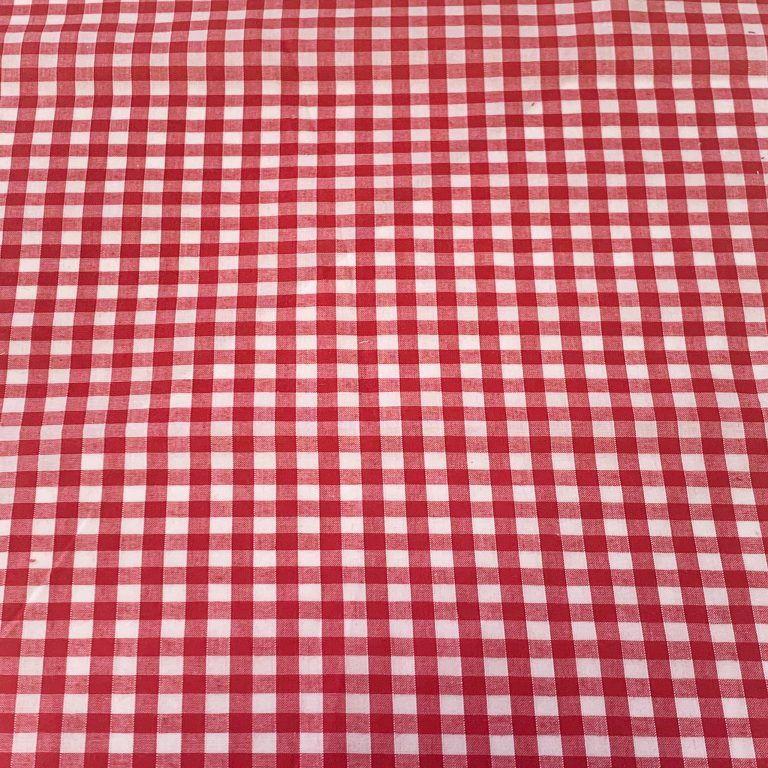 1/4 INCH RED AND WHITE GINGHAM