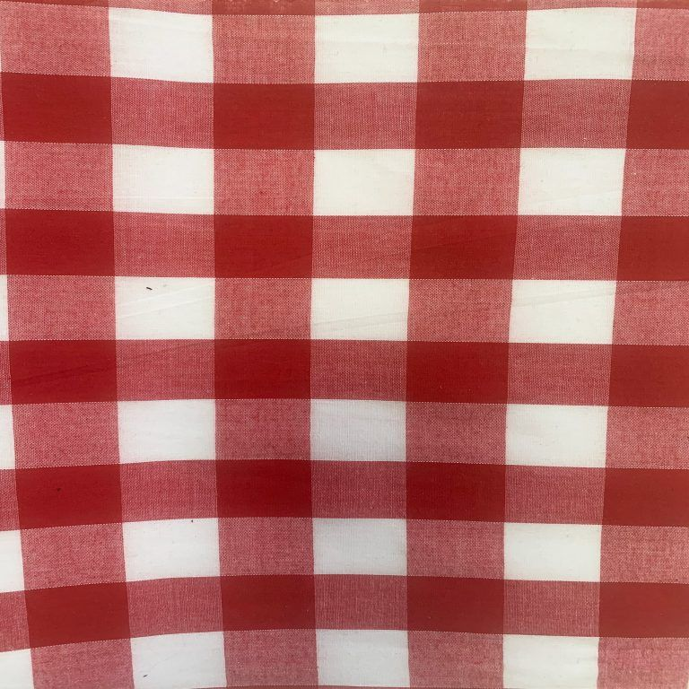 1 INCH RED AND WHITE GINGHAM