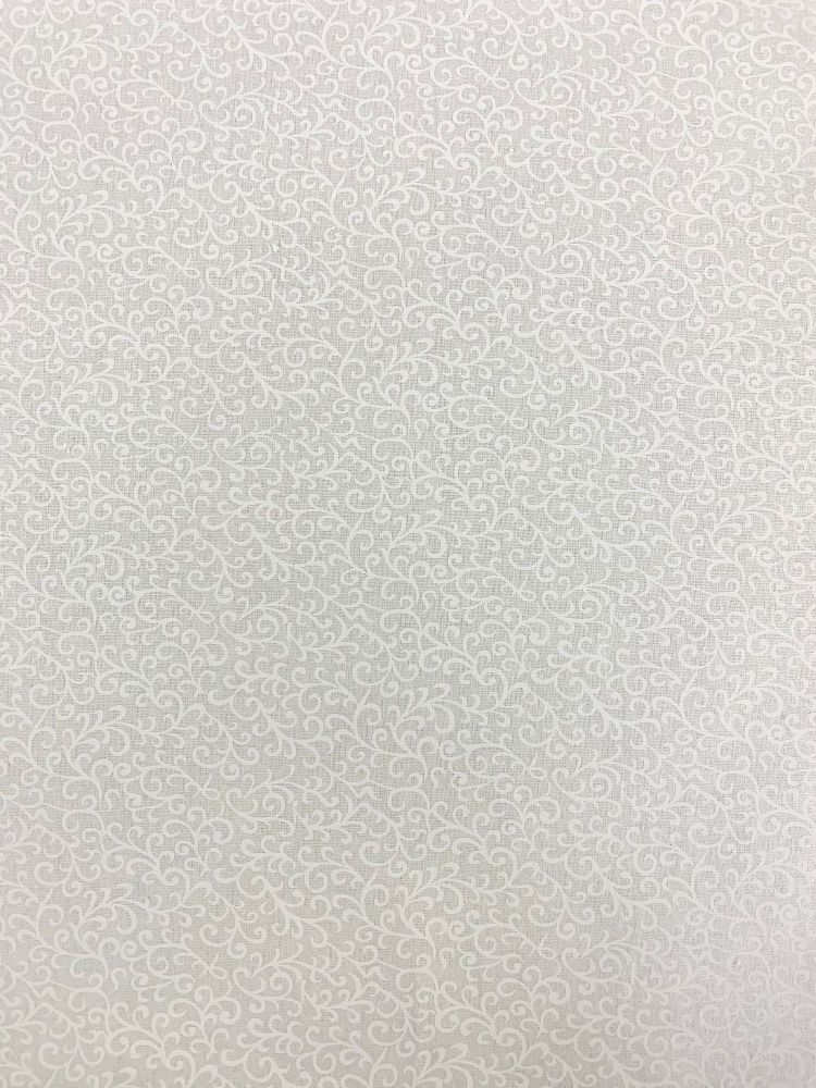 ESSENTIALS SCROLL IN WHITE, 100% COTTON.