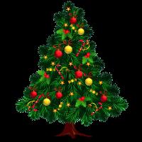 8 INCH FELT SQUARE,  CHRISTMAS TREE (OPTION A). 43